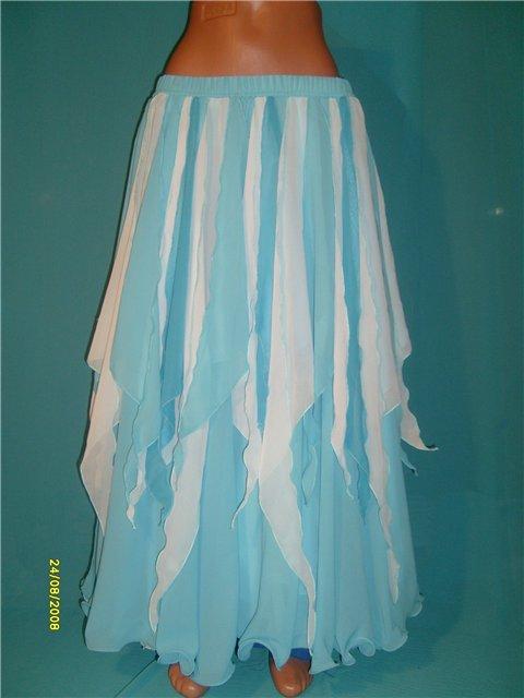 Описание: как сшить юбку из шифона в пол - Мода и.